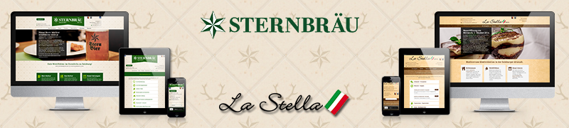 Sternbräu & La Stella Website ONLINE
