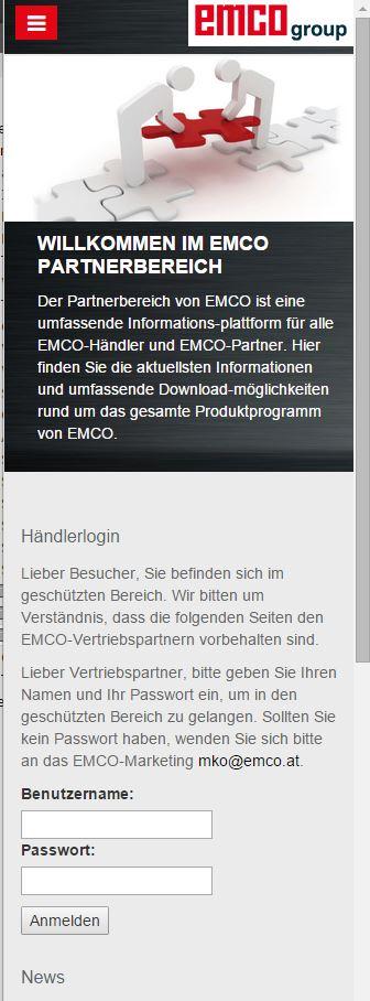emco Partnerbereich