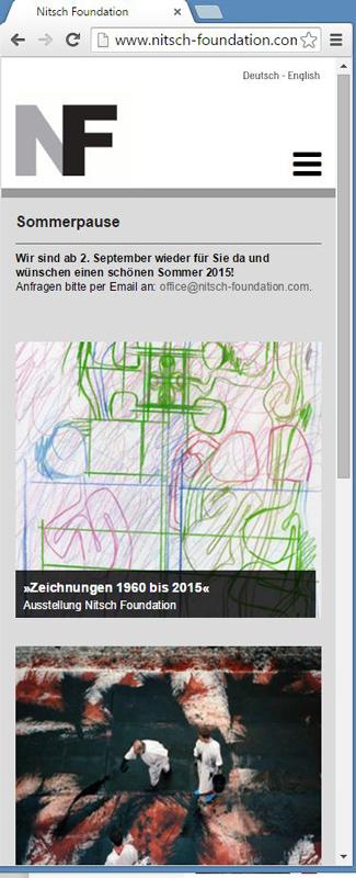 Screenshot Hermass Nitsch Startseite