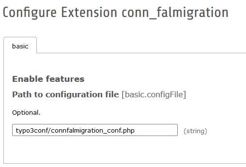 Konfigurationsoptionen conn_falmigration